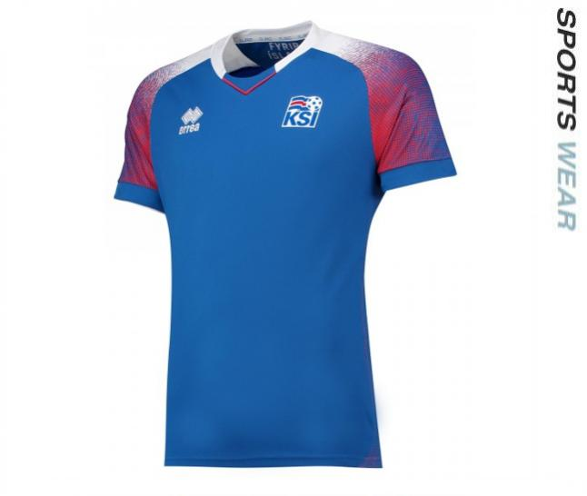 Errea Iceland 2018 Home Shirt - Blue SMKI6C04410IN