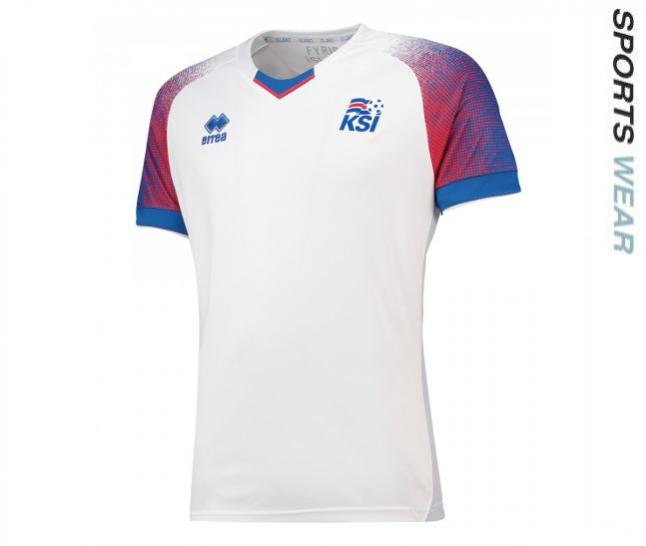 Errea Iceland 2018 Away Shirt - White SMKI6C05130IN