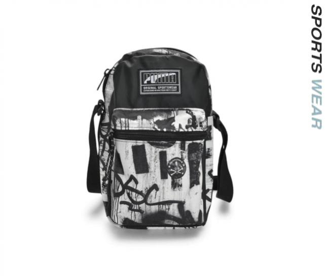 Puma Academy Unisex Portable Bag - White Black