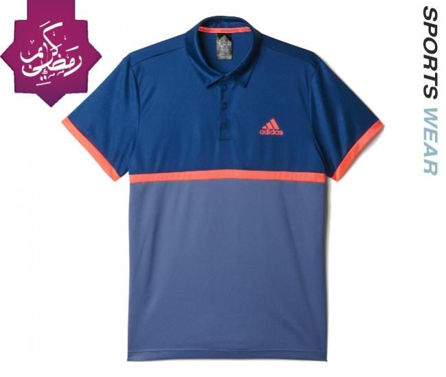 64a3f992 SKU Number AX816-5. Adidas Mens Court Polo - Blue/Red AX8165