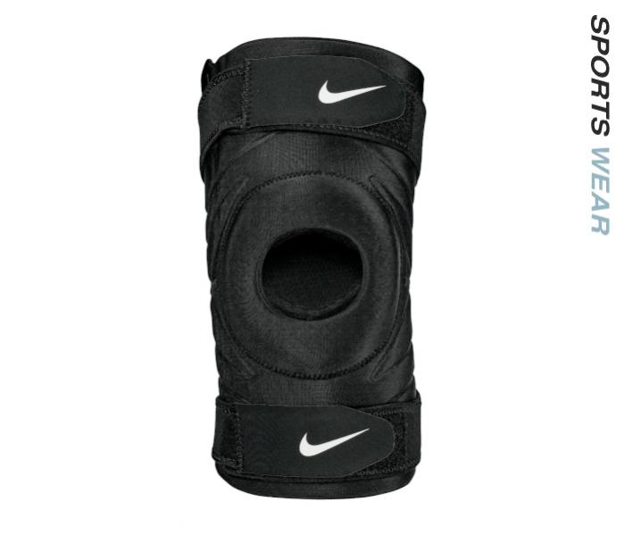 Nike PRO Open Knee Sleeve With Strap - Black