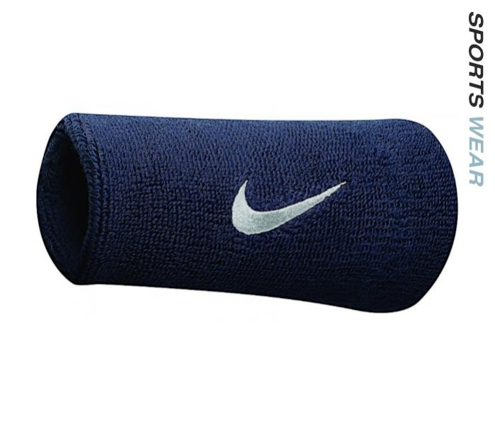 Nike Swoosh Double Wide Wristbands - Royal