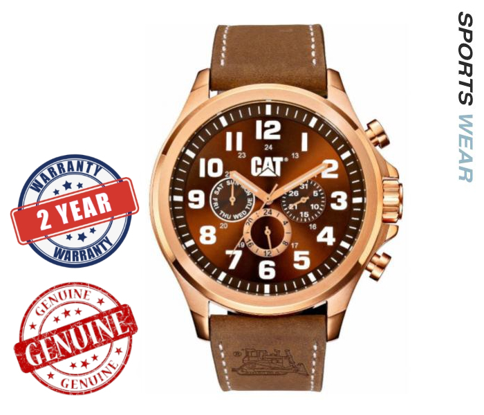 Caterpillar CAT Watches  Operator Multi -Brown /Rose Gold